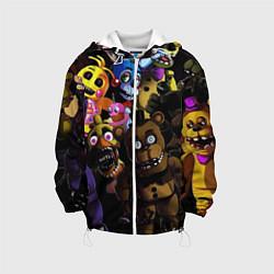 Детская 3D-куртка с капюшоном с принтом Five Nights At Freddy's, цвет: 3D-белый, артикул: 10211302305458 — фото 1