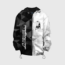Куртка с капюшоном детская Lamborghini цвета 3D-черный — фото 1
