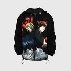 Куртка с капюшоном детская Death Note цвета 3D-черный — фото 1