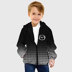 Детская 3D-куртка с капюшоном с принтом Mazda, цвет: 3D-черный, артикул: 10219625505458 — фото 2
