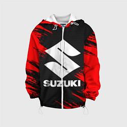 Детская 3D-куртка с капюшоном с принтом SUZUKI, цвет: 3D-белый, артикул: 10252267905458 — фото 1