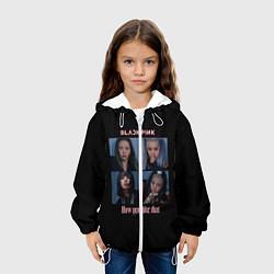 Детская 3D-куртка с капюшоном с принтом BLACKPINK, цвет: 3D-белый, артикул: 10252908905458 — фото 2