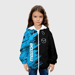 Куртка с капюшоном детская MAZDA цвета 3D-белый — фото 2
