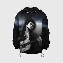 Детская 3D-куртка с капюшоном с принтом КИНО, цвет: 3D-черный, артикул: 10276726305458 — фото 1