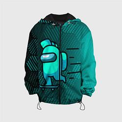 Куртка с капюшоном детская AMONG US цвета 3D-черный — фото 1