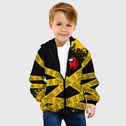 Куртка с капюшоном детская AMONG US Амонг Ас цвета 3D-черный — фото 2