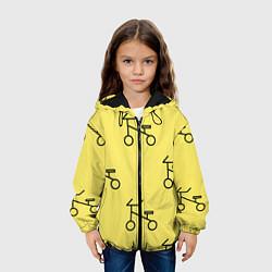 Куртка 3D с капюшоном для ребенка Велосипеды на желтом - фото 2