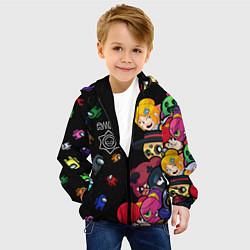 Куртка с капюшоном детская Among Stars цвета 3D-черный — фото 2