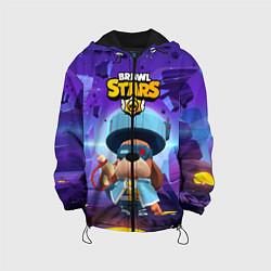 Куртка с капюшоном детская Генерал Гавс brawl stars цвета 3D-черный — фото 1