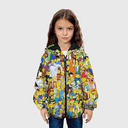 Куртка с капюшоном детская Simpsons Stories цвета 3D-черный — фото 2