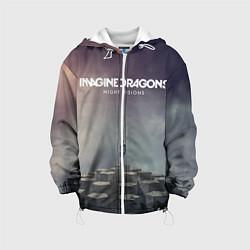 Детская 3D-куртка с капюшоном с принтом Imagine Dragons: Night Visions, цвет: 3D-белый, артикул: 10064384305458 — фото 1