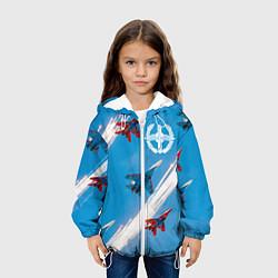 Куртка с капюшоном детская Самолеты ВВС цвета 3D-белый — фото 2