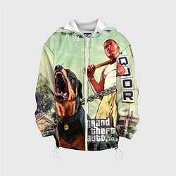 Детская 3D-куртка с капюшоном с принтом GTA 5: Franklin Clinton, цвет: 3D-белый, артикул: 10069769005458 — фото 1