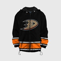 Куртка с капюшоном детская Anaheim Ducks Selanne цвета 3D-черный — фото 1