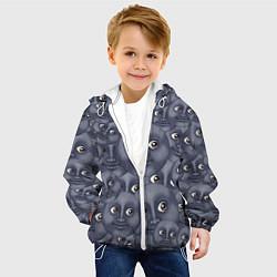 Куртка с капюшоном детская Эмодзи цвета 3D-белый — фото 2