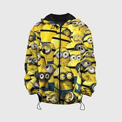Детская 3D-куртка с капюшоном с принтом Minions, цвет: 3D-черный, артикул: 10073299705458 — фото 1