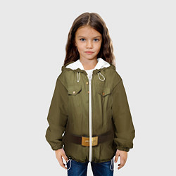 Куртка с капюшоном детская Униформа солдата цвета 3D-белый — фото 2