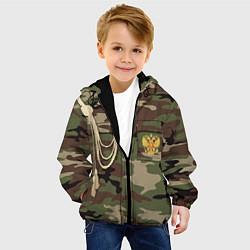 Куртка с капюшоном детская Униформа дембеля цвета 3D-черный — фото 2