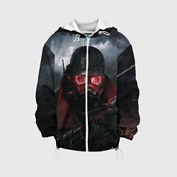 Детская 3D-куртка с капюшоном с принтом Fallout: New Vegas, цвет: 3D-белый, артикул: 10076906005458 — фото 1