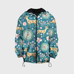 Куртка с капюшоном детская Олений узор цвета 3D-черный — фото 1