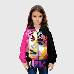 Куртка с капюшоном детская Michael Jackson Art цвета 3D-черный — фото 2