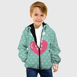 Куртка с капюшоном детская Rabbit: Love you цвета 3D-черный — фото 2