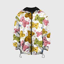 Детская 3D-куртка с капюшоном с принтом Любимые медвежата, цвет: 3D-черный, артикул: 10082083105458 — фото 1