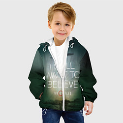 Куртка с капюшоном детская I still want to believe цвета 3D-белый — фото 2