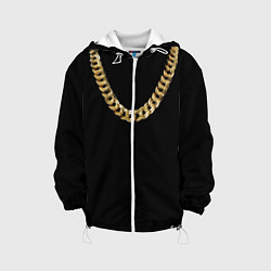 Куртка с капюшоном детская Золотая цепь цвета 3D-белый — фото 1
