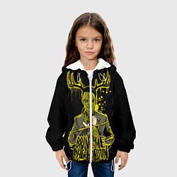 Куртка с капюшоном детская Bring me the horizon цвета 3D-белый — фото 2