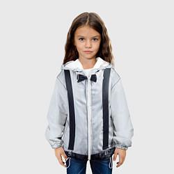 Детская 3D-куртка с капюшоном с принтом Рубашка с подтяжками, цвет: 3D-белый, артикул: 10085237605458 — фото 2