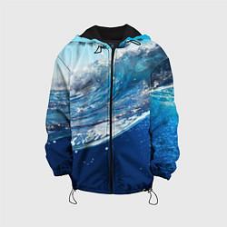 Детская 3D-куртка с капюшоном с принтом Стихия воды, цвет: 3D-черный, артикул: 10085388205458 — фото 1
