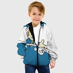 Детская 3D-куртка с капюшоном с принтом Fallout Casino, цвет: 3D-черный, артикул: 10086233305458 — фото 2