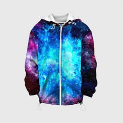 Куртка с капюшоном детская Голубая вселенная цвета 3D-белый — фото 1