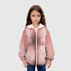 Куртка с капюшоном детская Загорелый торс цвета 3D-белый — фото 2