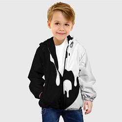 Детская 3D-куртка с капюшоном с принтом Инь Янь, цвет: 3D-черный, артикул: 10086772405458 — фото 2
