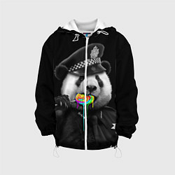 Куртка с капюшоном детская Панда с карамелью цвета 3D-белый — фото 1
