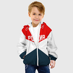 Детская 3D-куртка с капюшоном с принтом Форма России, цвет: 3D-белый, артикул: 10094207005458 — фото 2