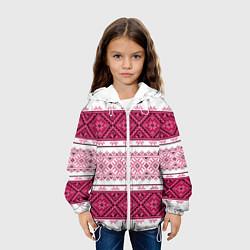 Куртка с капюшоном детская Вышивка 34 цвета 3D-белый — фото 2