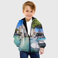 Куртка с капюшоном детская Италия цвета 3D-черный — фото 2