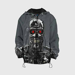 Куртка с капюшоном детская Скелет Терминатора цвета 3D-черный — фото 1