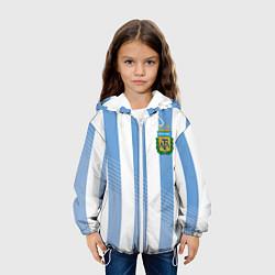 Куртка с капюшоном детская Сборная Аргентины: ЧМ-2018 цвета 3D-белый — фото 2