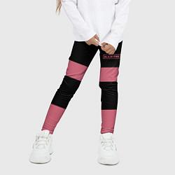 Леггинсы для девочки Black Pink: Logo цвета 3D — фото 2