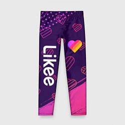 Леггинсы для девочки LIKEE ЛАЙКИ цвета 3D — фото 1