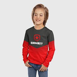 Лонгслив детский Gambit Gaming Uniform цвета 3D-принт — фото 2