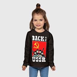 Лонгслив детский Back In The USSR цвета 3D-принт — фото 2