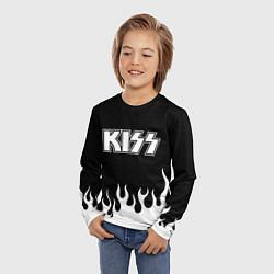 Лонгслив детский Kiss цвета 3D — фото 2