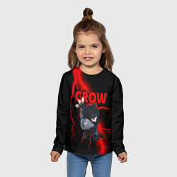 Лонгслив детский Brawl Stars CROW цвета 3D — фото 2