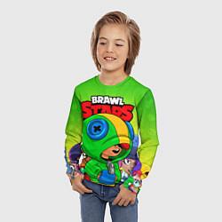 Лонгслив детский BRAWL STARS LEON цвета 3D — фото 2