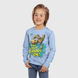 Лонгслив детский Get your Groot on! цвета 3D-принт — фото 2